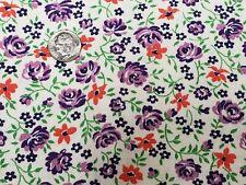 Best Vintage Feedsack Quilt Fabric 40s Lavender Purple Roses 40s Flour Full Sack
