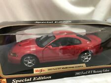 SIGNED! 1/18 scale die cast model MAISTO 2003 Ford SVT Mustang Cobra red Coletti