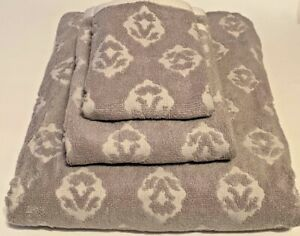 Vera Bradley Foulard Ditsy Set of 3 Bath Hand Wash Towel in Grey New w/ Tags