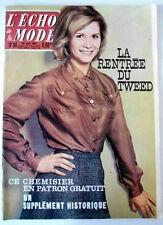 L'echo de la mode n°34 du 26/08/1962  Le Tweed fait ça rentrée