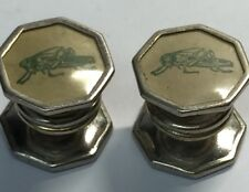 Kum-A-Part Snaps CuffLinks Patt. 1923 Vinyl Clear With Green Grasshopper (CL26)