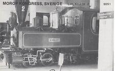 AK UNREAD Morop Congress Sweden litt. KLJ nr. 2 Baden Model järnvägs (G2567)