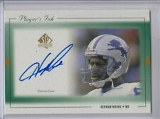 HERMAN MOORE 1999 SP AUTHENTIC PLAYER'S INK AUTOGRAPH AUTO LIONS
