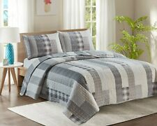 5 Piece Bedspread Throw Comforter & 2 Pillowcases King Superking Size Quilt YJ5