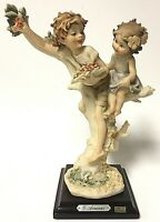 """Vintage Guiseppe Armani Florence Children In Tree 8"""" Statuette Figurine"""