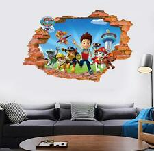 Kids Paw Patrol Dog Cartoon Scroll Wall Sticker Vinyl Art Decals Wallpaper Decor
