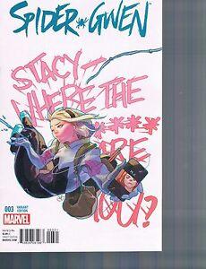 Spider Gwen #3 Yasmine Putri 1:25 Variant Cover 2015 Marvel Comics