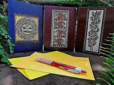 30 Handmade Art Note cards,Envelopes,Seals - Folk Art ,Seasons Greeting Unique