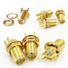10Stk SMA Steckverbinder RF Adapter Steckverbinder Nuss Bulkhead Lötmittel Neu^