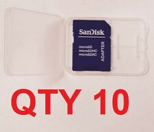 10 x Sandisk Micro SD to Secure Digital Adapter + Case