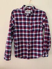 Hollister XS Men's Multicolor Plaid Button Down Shirt Long Sleeve Stretch Pocket
