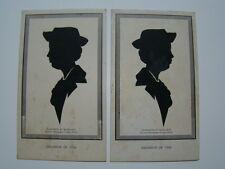 Souvenir of 1938 Silhouette by Budd Jack Scissor Artist Cards