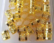 Dread Lock Beads Gold Metal Hair Accessories Jewelry Filigree Dreadlocks 10mm