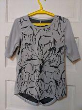 Kerrits Horses Shirt Light Gray Grey S Short Sleeved Small