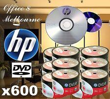 PREMIUM 600 x HP DVD-R 16x Silver Branded Blank DVD Discs DVDR FREE SHIPPING