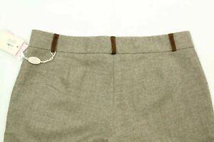 BluGirl Women's Bermuda Shorts Brown herringbone Wool Blend Made In Italy