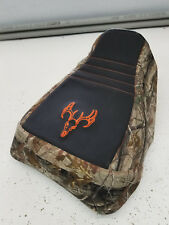 HONDA ATC 250es seat cover BIG RED camo 1985 1986 1/4 foam deer LOGO