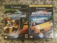 Need for Speed Underground 2/ HOT PURSUIT 2 NINTENDO GAMECUBE LOT 2 FREE S/H