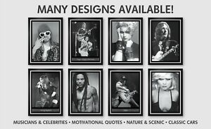 Celebrities & Musicians. Rock Bands, Pop Stars & More. New Poster Prints A3 SIZE