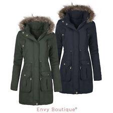 Faux Fur Casual Plus Size Button Coats & Jackets for Women