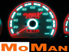 TOYOTA STARLET GLANZA glow gauges plasma dials tacho cluster plates indiglo set