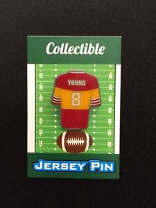 San Francisco 49ers Steve Young jersey lapel pin-Collectible-4 caps and shirts
