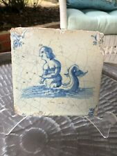 #5 of 5 Centuries Old Genuine Antique Delft Tile 5x5 inches
