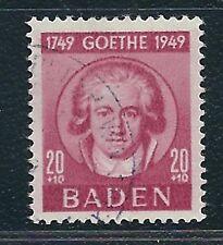 Germany Baden Scott #5NB13 – 1949 Goethe 20pf+10pf – Used