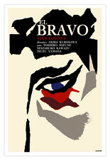 "Movie Poster 4 Japanese Film""EL BRAVO""Japan samurai warrior.Home wall art design"