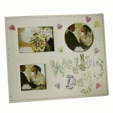 Vintage Collection Tissu Multi Ouverture Cadre Photo pour Jour De Mariage