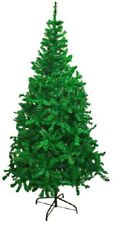 Artificial Christmas Tree Green+White 4,5,6, 7 & 8 FT Xmas Decorations UK STOCK