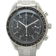Omega Speedmaster Automatic Chronograph 38mm Reduced Black Steel Wristwatch Refe