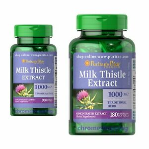 Milk Thistle Extract 1000mg Puritans Pride Premium 30/90/180/360 Softgels UK