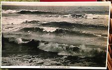 LONG BEACH, CALIFORNIA, Photo Post Card 1905-15 BEACH, SHIPS, STORM