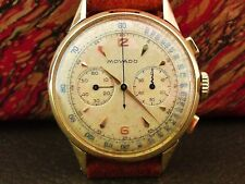 MOVADO VINTAGE CHRONOGRAPH M90 18K GOLD BOX BOOKLET ORIGINAL ALL! VERY RARE!