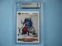 1991/92 UPPER DECK HOCKEY CARD #693 MIKE DUNHAM ROOKIE BGS BECKETT 9 MINT 91/92
