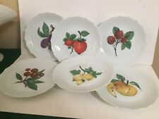 Limoges France Fruit Dessert Plates - 6 - MINT