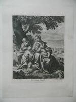 Incisione La Santa Famiglia Dopo Raphael Per Parigi Casa Pasquier A Nome Maria