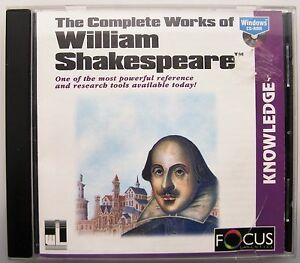 THE COMPLETE WORKS OF WILLIAM SHAKESPEARE ON PC CD-ROM