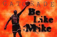 NBA POSTER~Michael Jordan 1998 Be Like Mike Chicago Bulls Gatorade Original OOP