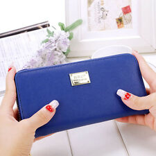 Women Zipper Leather Long Purse Ladies Clutch Coin Phone Bag Wallet Card Holder