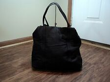 Donna Karan New York Black Satin Tote Shoulder Bag, NICE, STAPLE