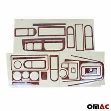 Wooden Design Dashboard Console Trim Kit 21 Pcs For VW Golf Mk4 2000-2006