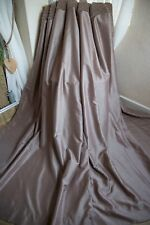 NEXT MINK PAIR OF CURTAINS,53WX90D,RIBBED VELVET HEADER,SHIMMER,EYELET,LINED