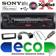 Fiat Grande Punto 2005-15 SONY CD MP3 USB Aux Car Stereo Radio BLACK Fascia Kit