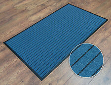 Blue Heavy-Duty Non-Slip Dirt-Barrier Entrance Office Door Floor Mat 60cm x 90cm