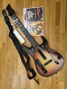 Wii Guitar Hero world tour Bundle Games and controller