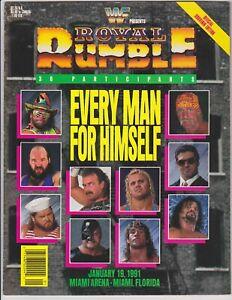 WWF Royal Rumble 1991 Program Randy Savage Hulk Hogan Miami Arena Vintage