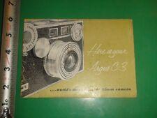 JB850 Vintage Argus C-3 35mm Camera Guide Booklet