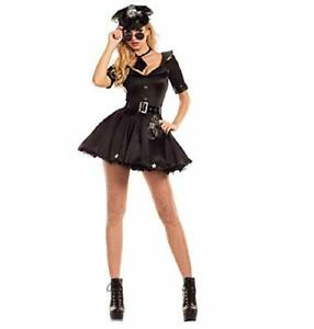 Sexy Adult Women Police Cop Halloween Fancy Dress Costume (One Size 8 - 10)